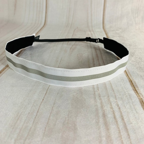 "Adjustable Nonslip REFLECTIVE Headband 7/8"" OUTDOOR RUNNING Headband Fits Ages 2 Yrs to Adult for Athletics & Fashion by Busy Bee Headbands"