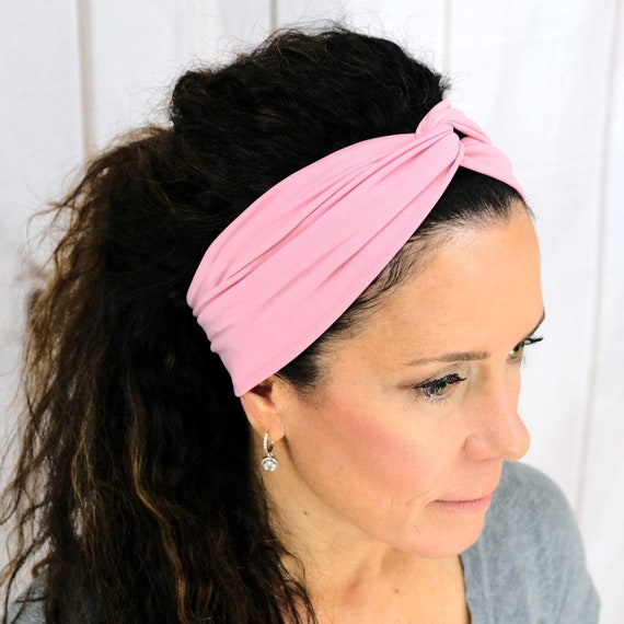 Dusty Rose Turban Headband Boho Head Wrap 'DAY DREAMER' Athletic & Fashion One Size Fits Most by Busy Bee Headbands