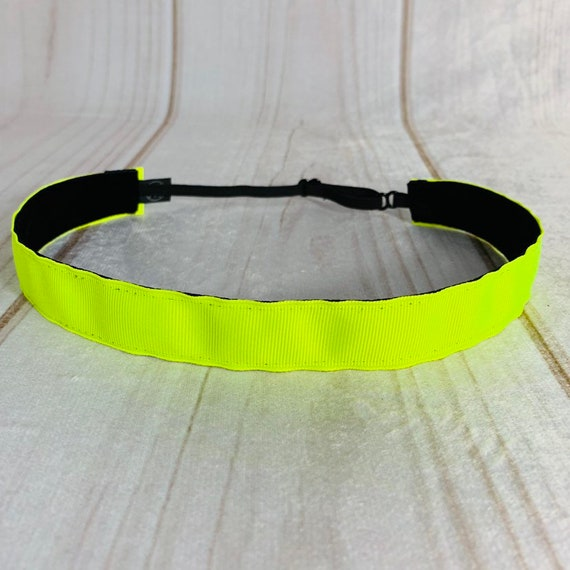 """Adjustable Nonslip NEON Headband 7/8"""" Fits Ages 2 Yrs to Adult for Athletics & Fashion by Busy Bee Headbands"""