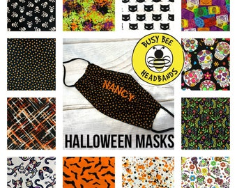 HALLOWEEN Face Masks for Kids & Adults Washable Mask Triple Layered Breathable Mask