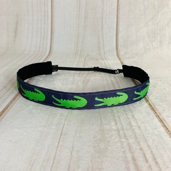 "Adjustable Nonslip Headband Alligator Headband  7/8"" Fits Ages 2 Yrs to Adult for Athletics & Fashion by Busy Bee Headbands"