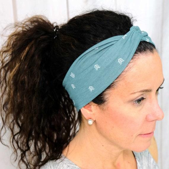 CHEVRON Headband / Twisted Turban Headband / Top Knot Headband / Wide Headband / Yoga Headband / Boho Style Headband / by Busy Bee Headbands