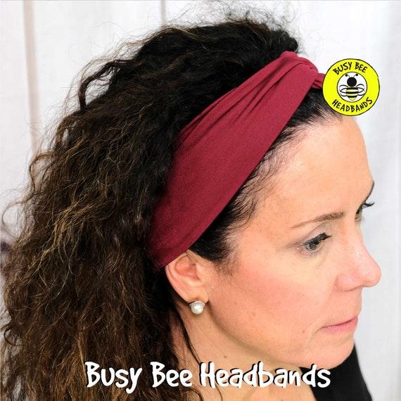 RED WINE Headband / Turban Headband / Knotted Headband / Wide Headband / Yoga Headband / BURGUNDY Headband / Boho Style Headband
