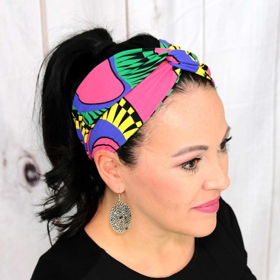Modern Twisted Turban Headband Boho Head Wrap 'BASIC INSTINCTS' Athletic & Fashion One Size Fits Most by Busy Bee Headbands