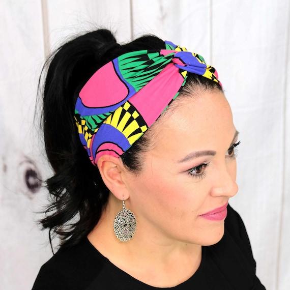 ABSTRACT MODERN Headband / Turban Headband / Knotted Headband / Wide Headband / Workout Headband / Yoga Headband / Boho Style Headband