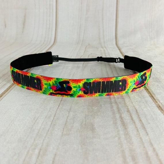 "7/8"" SWIMMER Headband / Nonslip Headband / Gift for Swim Team / Swim Headband / Adjustable Headband / Workout Headband / Busy Bee Headbands"