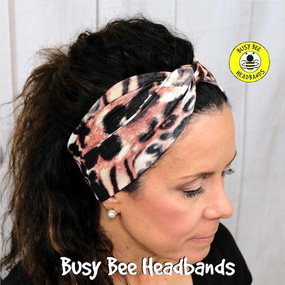 TIGER Headband / Turban Headband / Knotted Headband / Wide Headband / Yoga Headband / ANIMAL PRINT Headband / Boho Style Headband