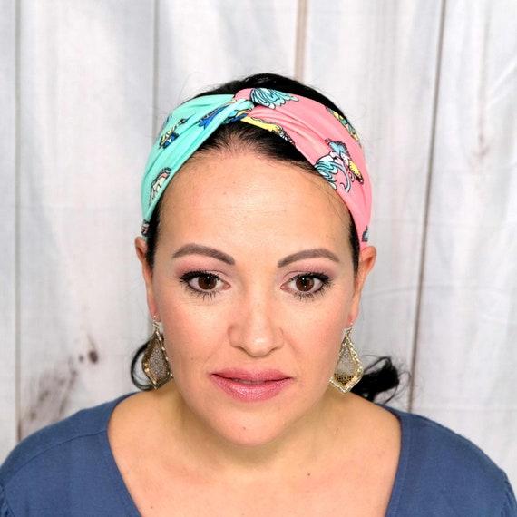 FLORAL PAISLEY Headband / Turban Headband / Knotted Headband / Wide Headband / Workout Headband / Yoga Headband / Boho Style Headband