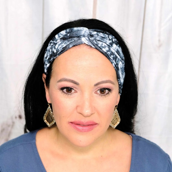 ZENFUL Tie Dye Headband / Twisted Turban Headband / Top Knot Headband / Wide Headband / Yoga Headband / Boho Style / Busy Bee Headbands