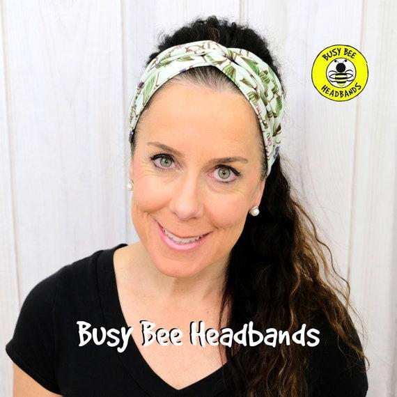 WINTER GREEN FLORAL Headband / Turban Headband / Knotted Headband / Wide Headband / Yoga Headband / Flower Headband / Boho Style Headband
