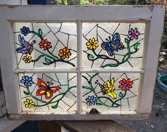 Butterfly Faux Stain Glass