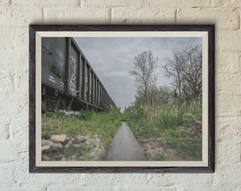 Abandoned Train Cars in Indiana