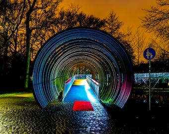 Photo Download Slinky Bridge-Oberhausen-Ruhr Area
