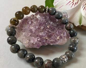 Labradorite and Black Howlite Bracelet