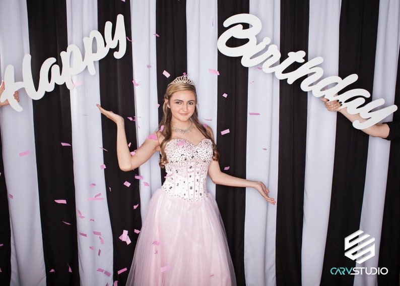 Photobooth Prop Party Decor Name BUNDLE Large Happy Birthday Various Fonts Durable Home Decor Custom Lightweight PVC 30 Wide