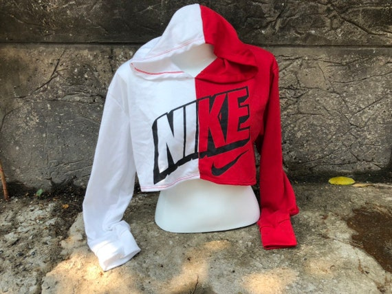 5e46133156bc6 Reworked ClassiC BrandZ Nike inspired Two Tone Hoodie Brallette Bandeau  Tube Top Crop Tommy Bra Tommy Sweater
