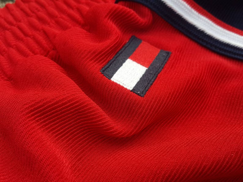 Vintage Tommy Hilfiger Swim Shorts Front and Back Big Spellout 90s