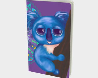 """Journal (Sm) Cute Animal Illustration """"Cirque Koala"""" by Malinee Ganahl. Notebook, Sketchbook. Plain, ruled, grid, or bullet pages. 5""""x8.25"""""""