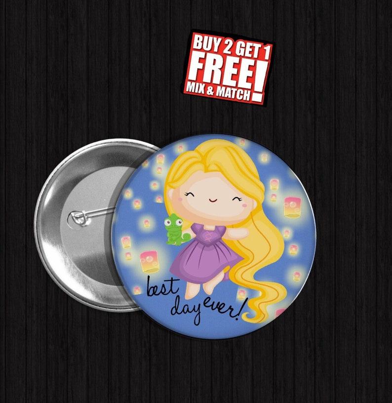 6914e882 Rapunzel princess button Disney inspired Button Pin rapunzel   Etsy