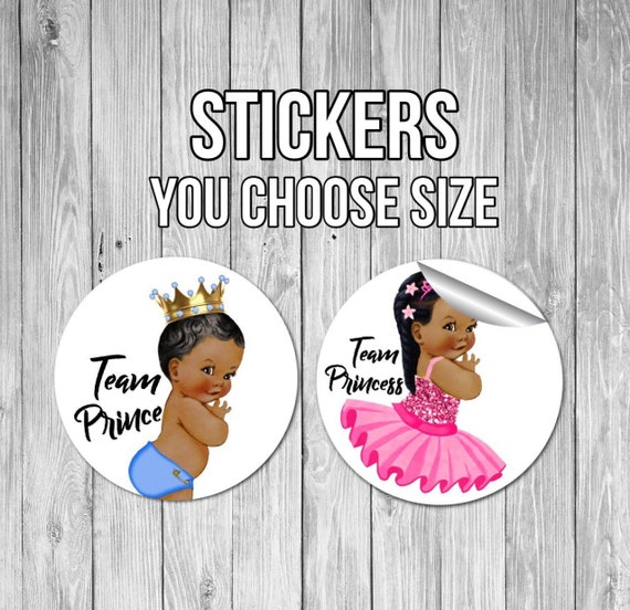 Gender Reveal Stickers prince or princess gender reveal he or she stickers gender reveal party ideas prince princess gender reveal stickers