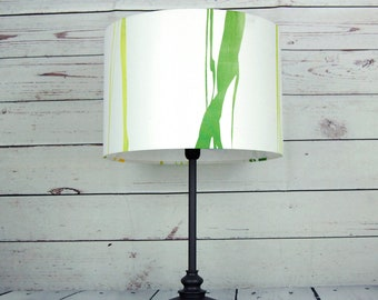 Lamp shade green stripe floor lamp pendant without stand