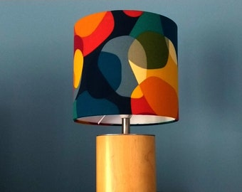 Lampshade, lamp, mid-century, floor lamp, table lamp, retro lamp, lava bubble lampshade, textile lamp, abstract pattern, without stand