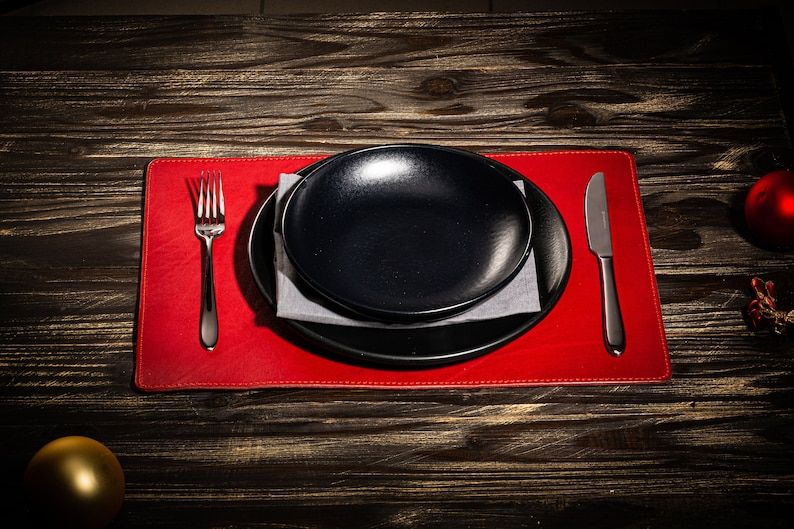 leather placemats for home decor gift for wife gift for women  wedding gift for couple  leather dine table mat
