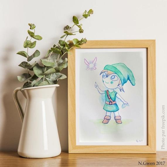 Aquarelle originale fan-art Li...