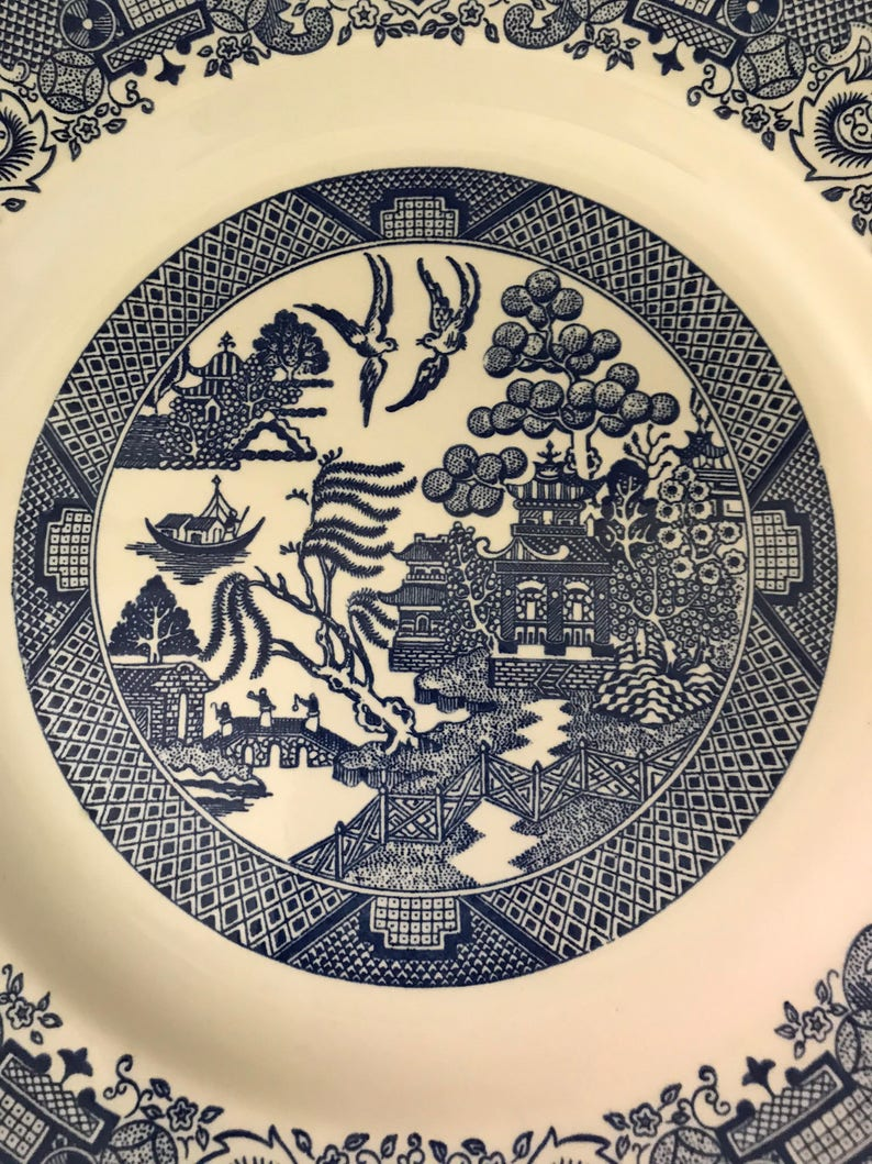 Set of Six Cavalier Ironstone Royal China Plates