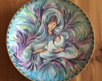 "P. Buckley Moss ""Mothers Joy"" - Anna Perenna Ceramic Plate"
