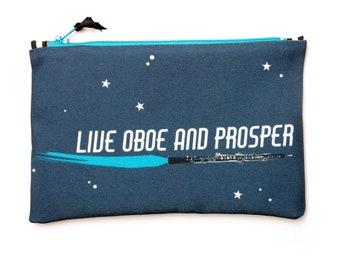 Zipper Tool Bag, Oboe Pun, Sci Fi Mashup, Oboe Zipper Bag, Small Oboe Pouch, Oboe Geek