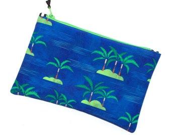 Aloha Oboe Tool Bag, Tropical Oboe Print Zipper Pouch, Musician Tool Bag, Pencil Bag, Oboeist, Oboe Reeds