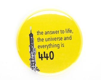 Oboe Magnet, Sci Fi Oboe Pun, Oboe Geek Magnet, Music Stand Magnet, Oboe Teacher Gift