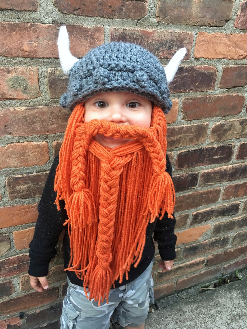 20e1f64ec19 Viking Beard Hat Customizable Color Adult and Child Sizes