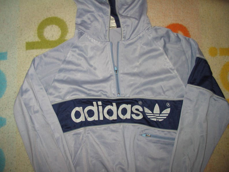 bdc70d3593d2 Adidas Trefoil Anorak Tracktop Tracskuit Vintage Small Extra