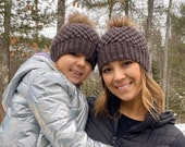 Mommy and Me Matching Winter Beanie Set Mommy and Me Winter Hats