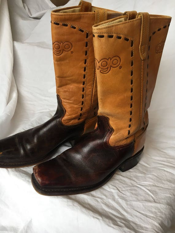 1970's Dingo square toe western boots