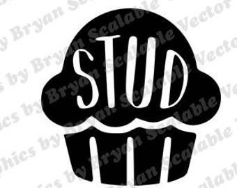 Stud Muffin Svg File Etsy