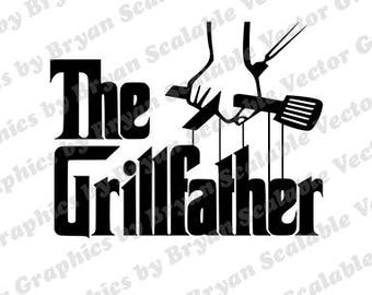 The Grillfather dxf,png,SVG, EPS files,Silhouette Files,Scan n Cut files,Cricut Files,Digital cut file,SVG Cut File,Vinyl Cutter,Vector Art