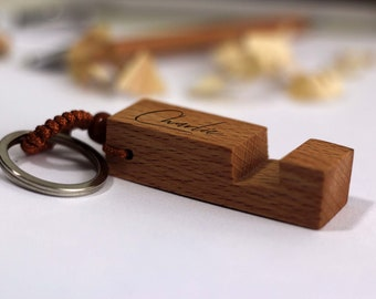 Wooden keyring stand   Etsy