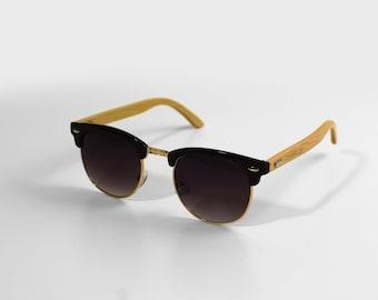 379fba8445161 Personalised Wooden Sunglasses. Clubmaster Ray Ban Style Sunglasses. Men  and Women Sunglasses. Custom Groomsmen and Bridesmaids Sunglasses