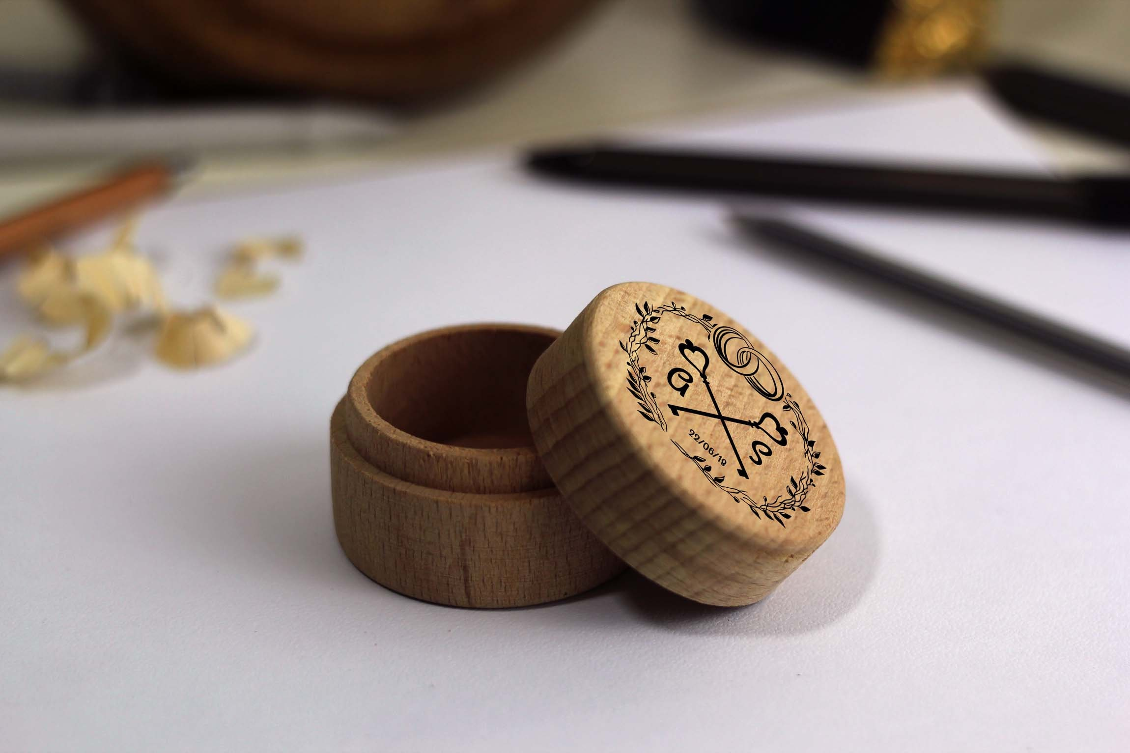 Key To My Heart Personalised Wooden Ring Box Custom Wooden Ring