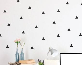 100 Black Triangles Wall Stickers Decals Vynil for Room Office Decoration