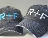 Rodan Fields hat R F Distressed Women Trucker Hat Mesh Back Denim Cap Gifts Embroidery Hat Gift Custom embroidered hat