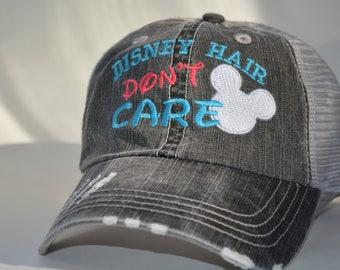 Disney Hair Don t Care Mickey Mouse Head Hat Disney Baseball Caps Custom  Embroidered Baseball Family Vacation Hats Disney World Vacation 9ba36630f252
