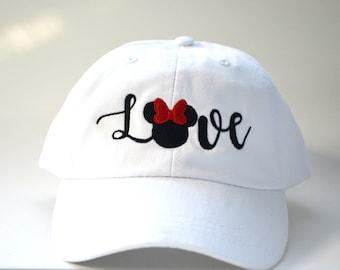 077e9ebbe93 Disneyland Love Mickey Mouse Head Hat Disney Baseball Caps Custom  Embroidered Baseball cap Family Vacation Hats Disney World Vacation Hat