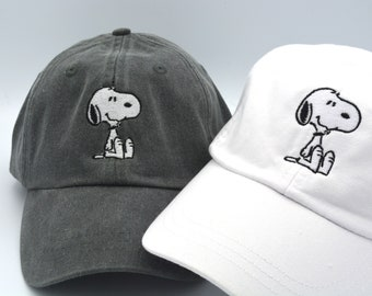 6d7adcc3e8d Snoopy Hat Baseball Caps Dog embroidered Custom Embroidered Baseball cap  Family Vacation Hats Disney World Vacation Hat peanuts