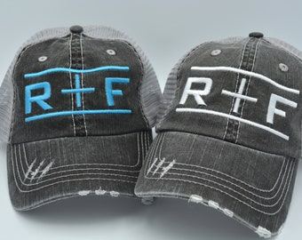 b6e5d58f1dd Rodan+Fields hat R+F Distressed Women Trucker Hat Mesh Back Denim Cap Gifts Embroidery  Hat Gift Custom embroidered hat