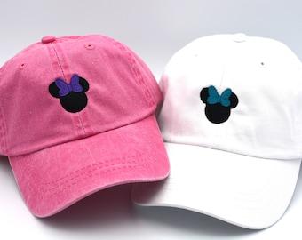 7ef3cd4beb8070 Mickey Mouse Head Hat Disney Baseball Caps Custom Embroidered Baseball cap  Family Vacation Hats Disney World Vacation Hat