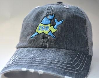 907fa5a23fe4a ISR logo Distressed trucker hat Camo trucker hat Messy Bun Cap High Ponytail  Trucker hat